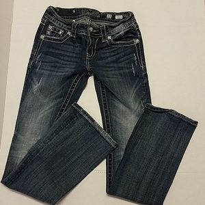 Miss Me Jean's naturally distressed. Size 25.